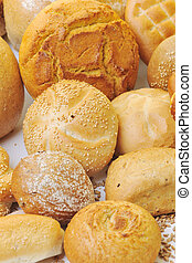 frisk brød, mad grupper