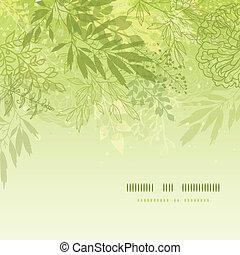 frisk, glødende, forår, planter, firkantet, skabelon,...