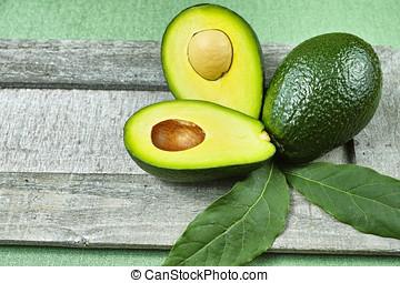 frisk, grön, avokado