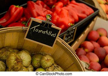 frisk, grönsaken, marknaden, frukter