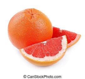 frisk, grapefrukt, frukt