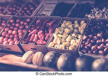 frisk, marknaden, grönsaken