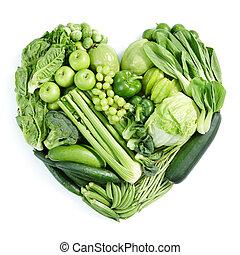 frisk mat, grön