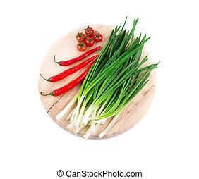 frisk, peber, tomater, løg, forår