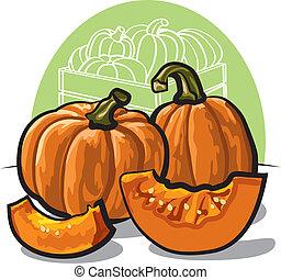 frisk, pumpkins