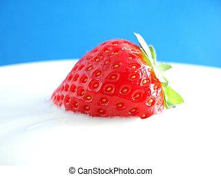 frisk, röd, jordgubbe