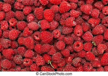 frisk, ram, fyllda, raspberries., bakgrund
