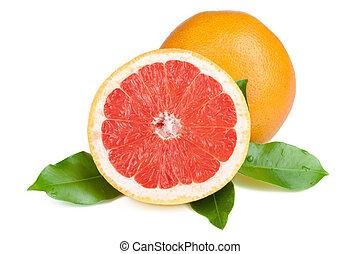 frisk, saftig, grapefrukt