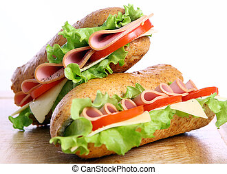 frisk, sandwich, velsmagende