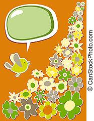 frisk, social, media, fågel, kommunikation