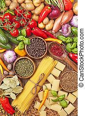 frisk, sortering, grönsaken