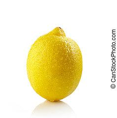 frisk, våt, citron