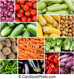 frisk, vegetables., populär, bönder marknadsför, grönsaken