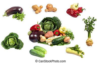 friske grønsager, samling