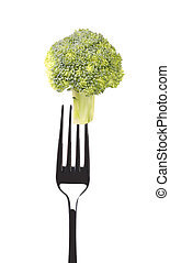 friss, brokkoli, képben látható, egy, villa