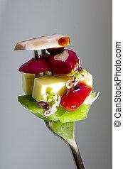 friss felfordulás növényi, képben látható, villa, másol, space.
