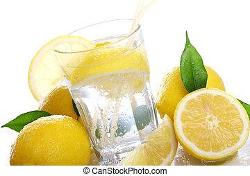 friss, koktél, citromfák