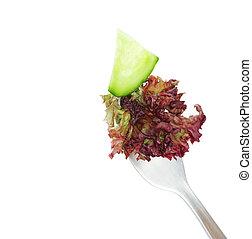 friss növényi, képben látható, egy, villa, elszigetelt, white, háttér