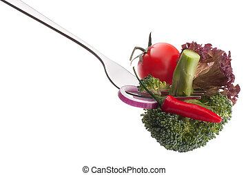 friss, nyers növényi, képben látható, villa, elszigetelt, white, háttér, kapcsoló