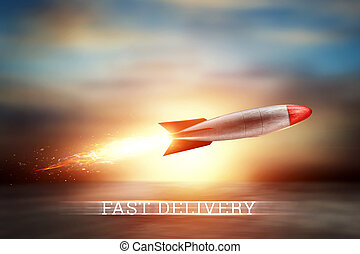 friss, off., média, hely, tart, kreatív, felszabadítás, online bevásárlás, háttér, szolgáltatás, másol, szuper, satellites., gyorsan, rakéta, kevert