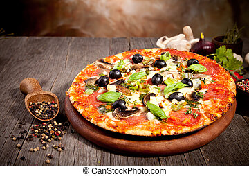 friss, olasz, pizza