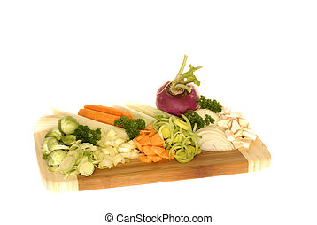 frissen, elvág, leves, növényi