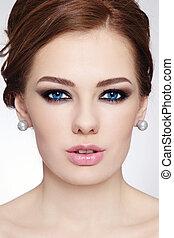 frisur, make-up