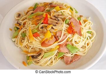 fritado, noodles