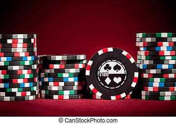 frites, casino, geluksspelletjes