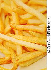 frites, pommes terre, closeup, photo