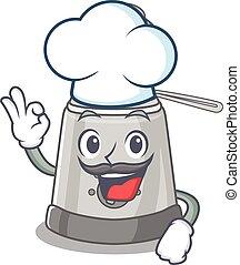 friteuse, blanc, caractère, chapeau, profond, fonctionnement...