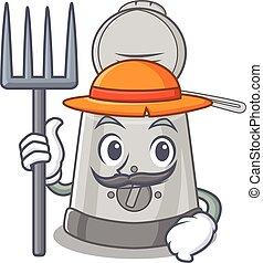 friteuse, chapeau, outils, paysan, profond, heureux, image, ...