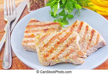 frito, carne