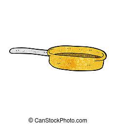 frittura, cartone animato, pan