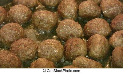 friture, boulettes viande