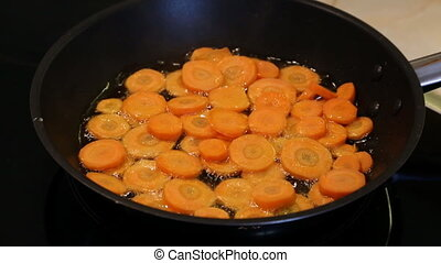 friture, carottes, moule, rôti
