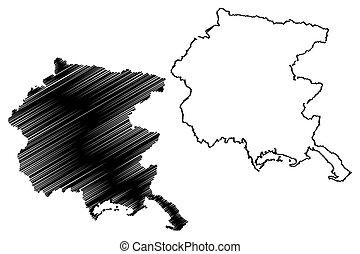 Friuli-Venezia Giulia map - Friuli-Venezia Giulia...