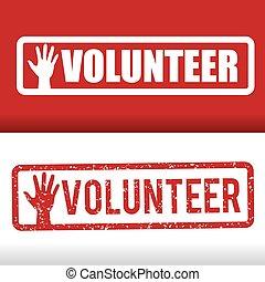frivillig, design.