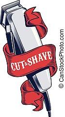 frizura, hajvágás, fodrászat, borbély, sablon, jel
