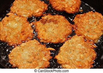 frizzle potato pancakes - potato pancakes frizzle in black ...