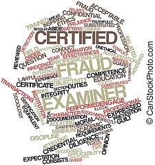 frode, esaminatore, certificato
