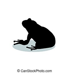 Frog amphibian black silhouette animal