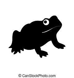 Frog black icon .