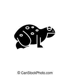 Frog black icon, vector sign on isolated background. Frog concept symbol, illustration