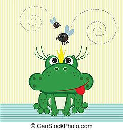 Frog cartoon.  - Frog cartoon.