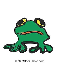 frog cartoon, vector