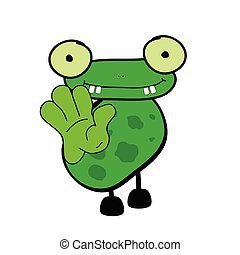 frog cartoon vector illustration