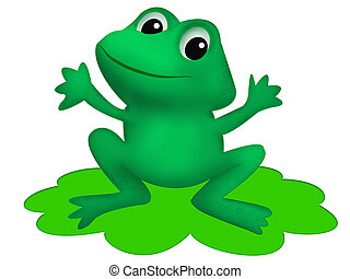 Frog - Childish illustration of frog