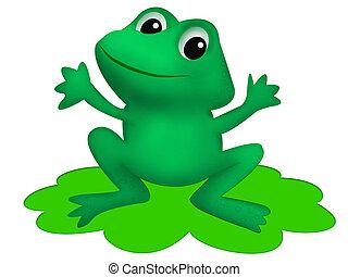 Childish illustration of frog