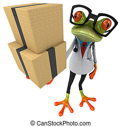 Frog doctor - 3D Illustration